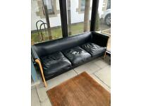 3 and 2 seater Italian leather sofas