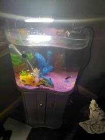 Fish tank on stand