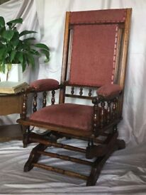 Antique Rocking chair FULL SIZE. Excellent condition. 19th century? FREE LOCAL DELIVERY