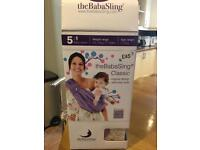 The baba sling 5 in 1 baby carrier sling as new (colour black)
