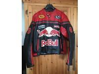 Leather motor bike jacket