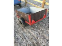 Small car trailer . Car trailer