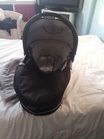 Quinny pushchair and carry cot plus rain covers