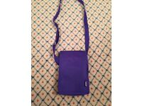 Girl's purple Glitterbabes shoulder bag, with phone slot and 2 inner compartments, NEW