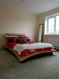 Double bed Wooden Japanese Style Low Level Contemporary silent night