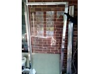 Shower door. Pivot. Brand new. Slight damage to frame but still perfect working order