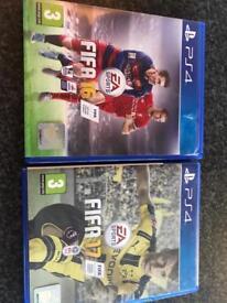 Fifa 16 and Fifa 17 PS4