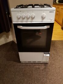 Beko BSG580W 50cm 500mm Single Cavity Gas Cooker in White RRP: £229
