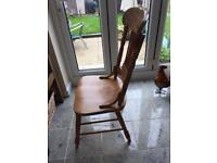Solid farmhouse chairs set of 4
