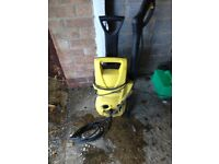 Karcher pressure car washer with lance and nozzle has water leak but still works vgc