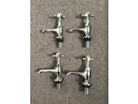 Full set of elegant Hudson Reed, traditional style, chrome bathroom taps