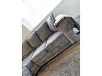 Grey Chesterfield Corner Sofa