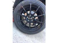 """16"""" novus black alloy wheels"""