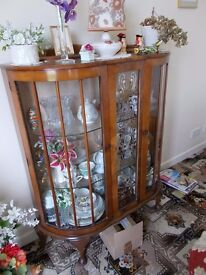 Glass cabinet display show case vintage shabby chic retro looking to.