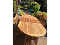 Outdoor teak dining table no chairs