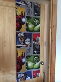 Marvel Avengers Shield Curtains & single bedset