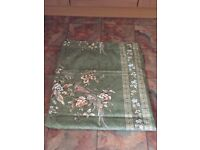 Lounge Curtains, Made to Measure, Green Bird Pattern, Fully Lined, Very Good Condition, £30