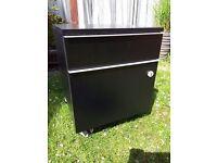 Small black filing cabinet