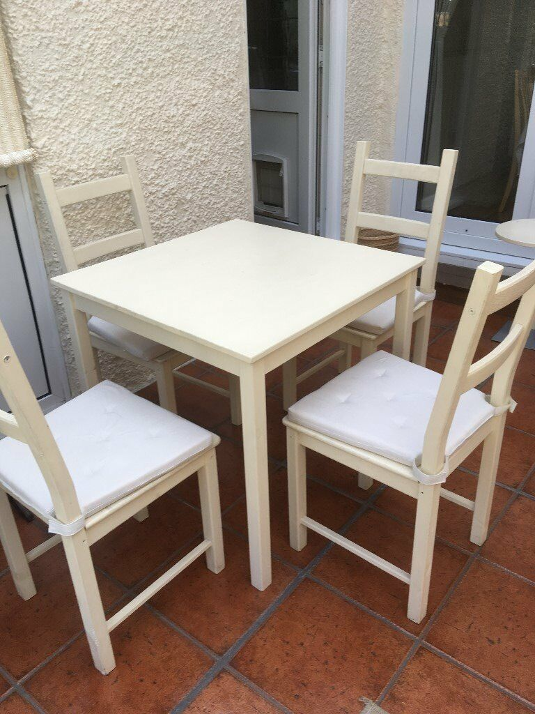 ikea table with four chairs  in eltham london  gumtree