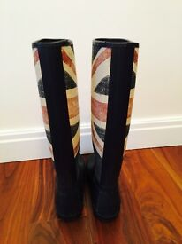 Hunter Original Brit Womens Rubber Wellies Union, Size 6