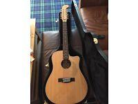 Fender Villager 12 String Electro Acoustic Guitar + Hard Case