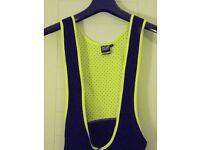 Unisex Planet X Yellow & Black one piece ¾ Cycling Bib – Sizes: M & XL.