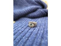 Silver ring with an eye
