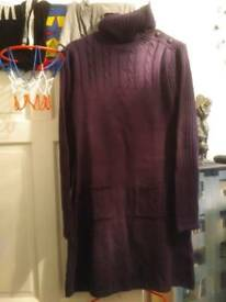Brand new purple jumper dress size 20