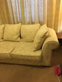 Large cream sofa Free delivery