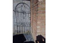 metal bow garden gate
