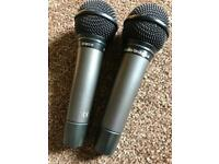 2 x mics and leads