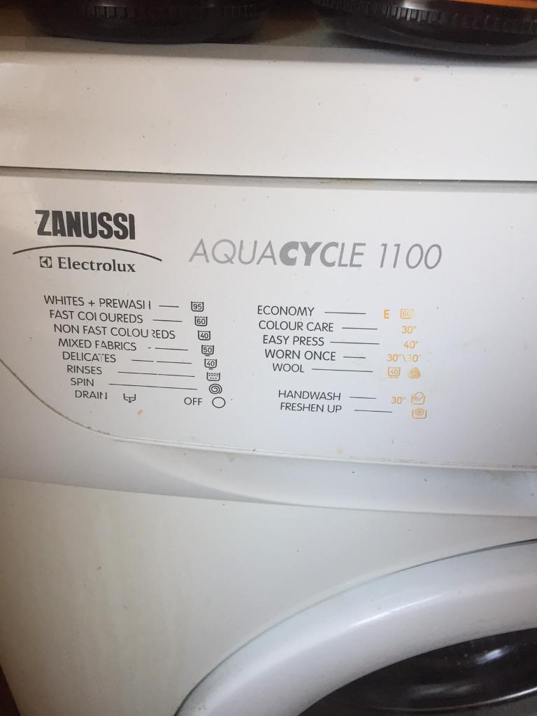 Zanussi aqua cycle 1100 washing machine