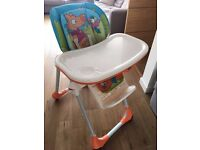 Chicco polly adjustable reclining highchair