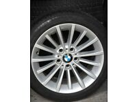 BMW Alloy Wheels Fitted with Winter Tyres