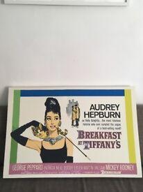 Breakfast at Tiffanys Retro Movie Print