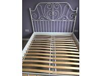 Beautiful white metal frame bed