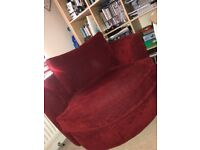 Super Cosy Red Swivel Sofa/ Armchair!