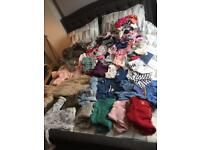 Assorted box of girls clothes from 0-2 years.
