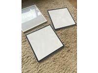 3 Ikea Lomviken frames 2 black 1 white 32x32
