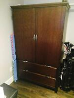 Wardrobe. In good condition and convertible.