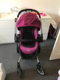 Graco pram with carry cot and pushchair