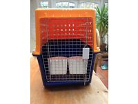 Pet crate/carrier, airline approved, ideal for small dog.