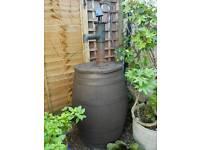 Oak barrel with heavy iron pump