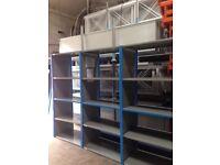 job lot 20 bays QBS heavy duty industrial shelving 2.1m high ( storage , pallet racking )