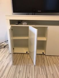 Brand new white gloss high modern cabinet with LED lights