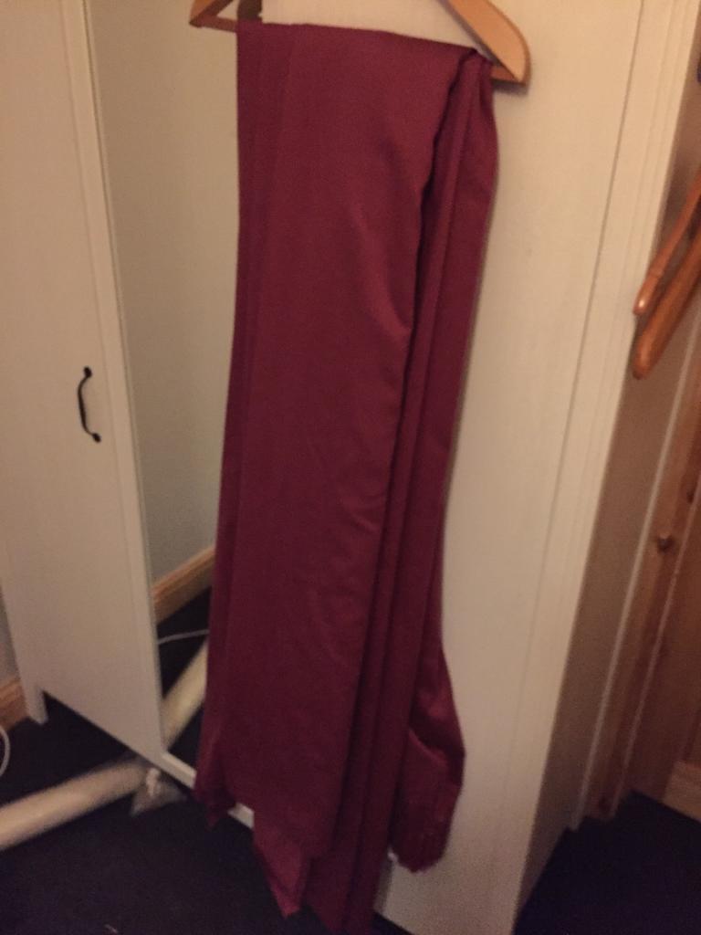 Cotton burgundy Curtains