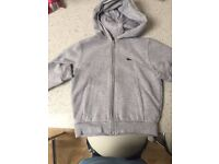 Boys Lacoste hoodie age 3-5 years
