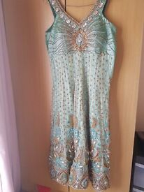 Asian/Indian dress/lengha heavily embroidered