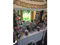 A beautiful candy cart to hire