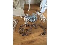 Silver and white decorative branches SOLD